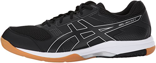ASICS Men's Gel-Rocket 8 Volleyball Shoe, Black/Black/White, 10 Medium US