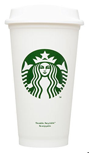 Starbucks Travel Coffee Cup Reusable Recyclable Spill-proof BPA Free Dishwasher Safe - Grande 16 Oz (Pack of 6) 16 Ounce Travel Cup