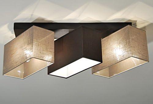 Deckenlampe HausLeuchten JLS3162D Deckenleuchte Leuchte Schlafzimmer Wohnzimmer Kinderzimmer Lampe Küche 3-flammig Holz
