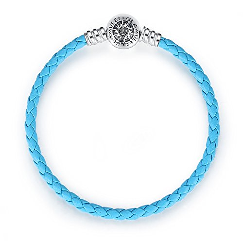 d39dab8a9 Glamulet Art - 17 cm Blue Leather Bracelet -- 925 Sterling Silver -- Fits  Pandora Charm - Buy Online in UAE. | glamulet Products in the UAE - See  Prices, ...