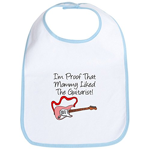CafePress Proof Mommy Liked Guitarist P Bib Cute Cloth Baby Bib, Toddler Bib