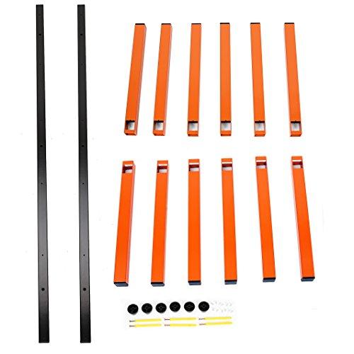 7BLACKSMITHS Six-Level 600 lb Capacity Lumber Storage Rack Wall-Mounted both Indoor and Outdoor Use Wood Organizer Rack by 7BLACKSMITHS (Image #3)