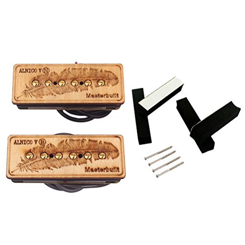 SUPVOX Guitar Parts Set Single Coil Pickup with Screws Electric Guitar Replacement Accessory