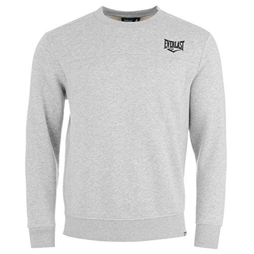- Everlast Mens Crew Neck SweaT Shirt Sweater T Top Jumper Pullover Long Sleeve Grey Marl XXXX Large