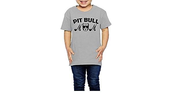Kcloer24 Pitbull Mama Boys/&Girls Organic T-Shirt Summer Clothes 2-6 Years Old