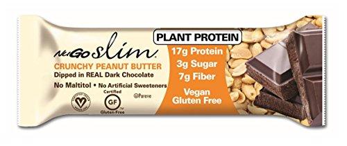 Nugo Slim gluten gratuit Crunchy Peanut Butter, 1,59 once (Pack de 12)