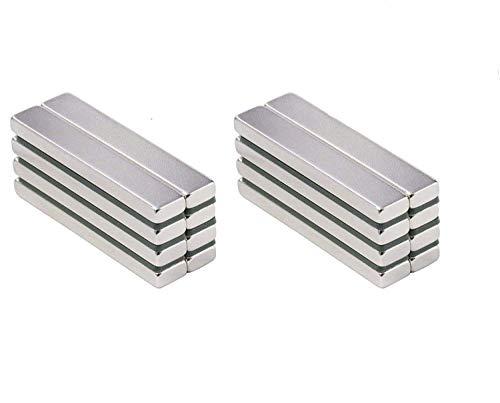 ZHW Powerful Neodymium Bar Magnets, Rare-Earth Metal Neodymium Magnet, N45, Incredibly Strong 33+ LB Strength (60 x 10 x 3 mm (20 Pack))