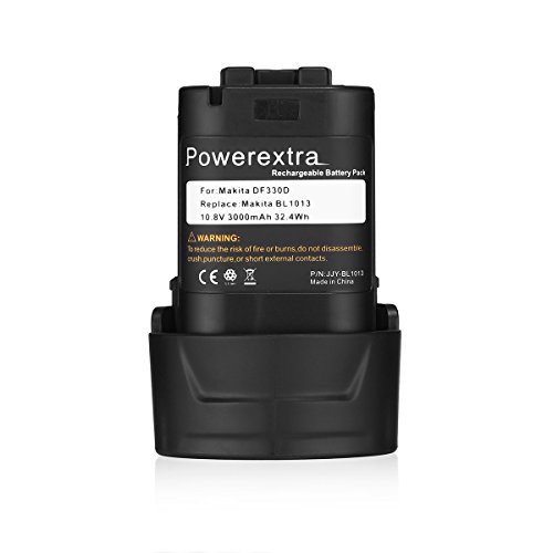 Powerextra 10.8v 3.0Ah Li-ion Replacement Battery for Makita BL1013 Makita BL1014 Battery 194550-6 194551-4 195332-9