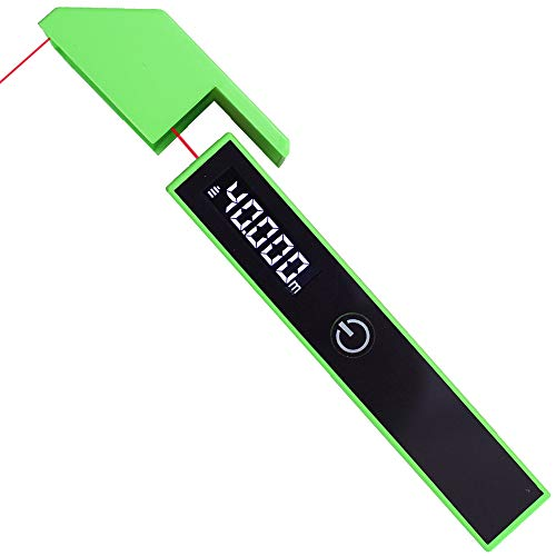 MyAntenna KIWI P1 Laser Measuring Tape 131 Ft/40M Digital Precise Lightweight Handy Engineering Tape Measure for Height Distance Measurement with One Button Four Modes and Smart Switch(Green)
