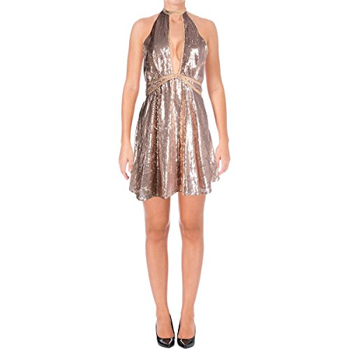 Free People Women's Rose Gold Sequin Sleeveless Dress, US 2,Rose from Free People