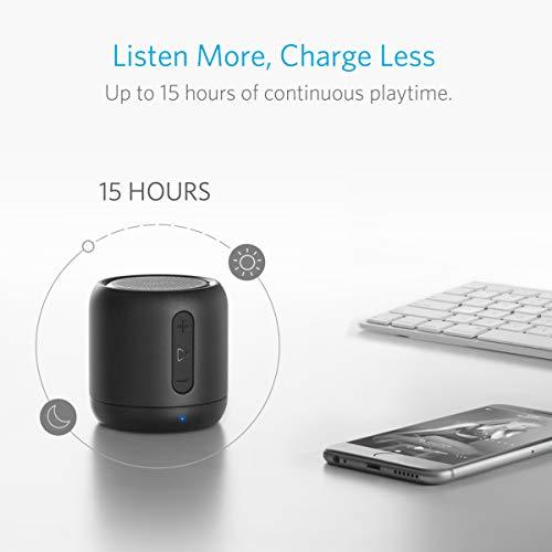 Anker Altoparlante Bluetooth Tascabile SoundCore Mini – Speaker Senza Fili Super-Portatile con Bassi Potenti, Raggio di Connessione Bluettoth e Guida Vocale per iPhone, iPad, Samsung, Huawei e Altri