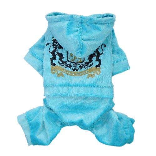 Gorgeous Multi-Color Dog Jersey Sport Shirt Hoodie Jumpsuit Pet Dog Cat Clothes Apparel,Light Blue,M, My Pet Supplies