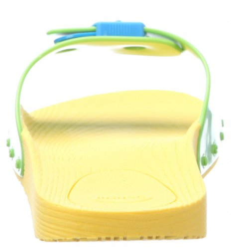 Scholl Pop - Sandalias de pala unisex Amarillo (Yellow/Lime Green/Turquoise 1576)