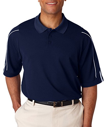 Men's climalite 3-Stripes Cuff Polo (COLLEGT NVY/ WH - COLLEGT NVY/ WH -