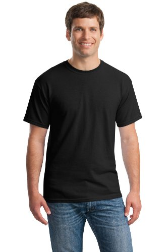Gildan mens Heavy Cotton 5.3 oz. T-Shirt(G500)-BLACK-S-10PK