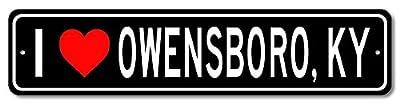 I love OWENSBORO, KENTUCKY - Custom US City Name and State Aluminum Sign