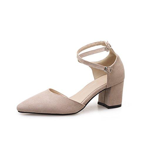 Bretelles Femmes avec Chaussures Sandales Croisées Romain Bouche épais a Profonde Apricot Peu x1gY7gwq
