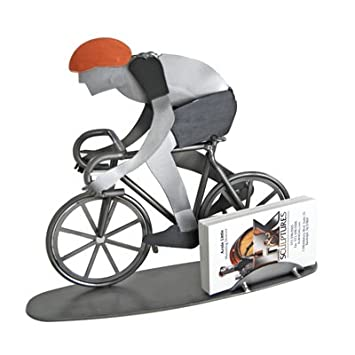Amazon bike rider business card holder hk steel sculpture bike rider business card holder hk steel sculpture colourmoves Choice Image