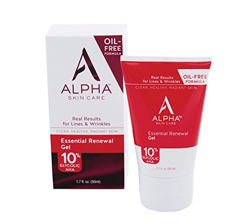 Oil Free Care (Alpha Skin Care - Essential Renewal Gel, 10% Glycolic AHA, Real Results for Lines and wrinkles| Oil, Fragrance, and Paraben Free| 1.7-Ounce (Packaging May Vary))
