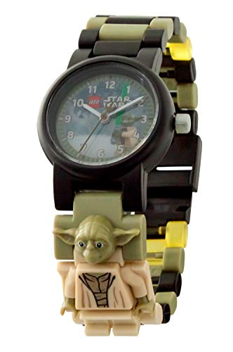 LEGO Watches and Clocks Boy's 'Star Wars Yoda' Quartz Plastic Casual watch, Color:Green (Model: 8021032)