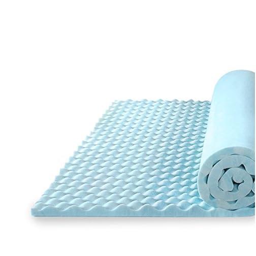 Zinus 1.5 Inch Swirl Gel Memory Foam Convoluted Mattress Topper / Cooling, Airflow Design / CertiPUR-US Certified, Twin