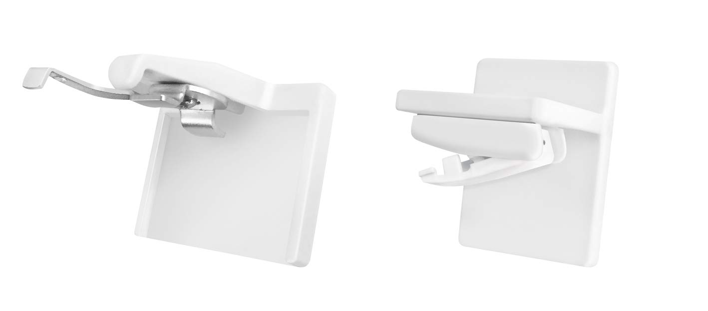 White Ventanara Adhesive Panel No Drilling Klemmfix Pleated Blinds Jalousie Klebeplatte 2 St/ück