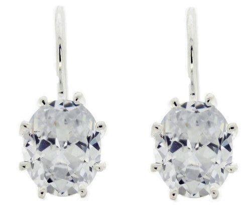 Boucles d'Oreilles Pendantes Femme - E8530/1 - Argent Sterling 1.6 Gr - Oxyde de zirconium