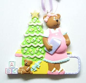 Amazon.com: Expecting Mother-to-be Christmas Ornament Pregnant Mom ...