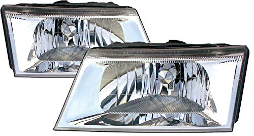 For 2003 2004 Mercury Grand Marquis Headlight Headlamp Assembly Driver Left and Passenger Right Side Pair Set Replacement FO2502187 FO2503187