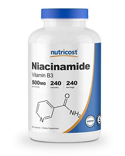 Nutricost Niacinamide (Vitamin B3) 500mg, 240 Capsules – Non-GMO, Gluten Free, Flush Free Vitamin B3