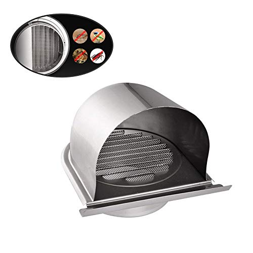 Air Vent Ventilation Grille Cover External Extractor Wall Air Outlet Cover, 304 Stainless Steel ()