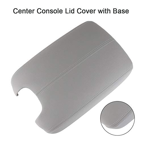 cciyu Armrest Center Console Lid Cover + Base Grey Armrest Covers Replacement fit for 2008-2012 Honda Accord