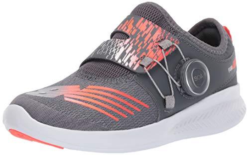 New Balance Boys' FuelCore Reveal Running Shoe Gunmetal/Alpha Orange 10.5 W US Little Kid