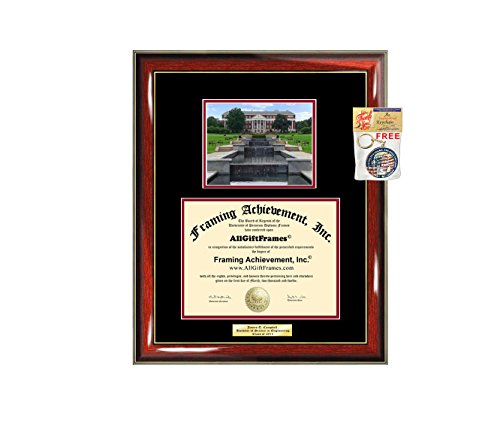 (Diploma Frame University of Maryland College Park Graduation Gift Idea UMD Engraved Picture Frames Engraving Degree Bachelor Masters MBA PHD Doctorate School)