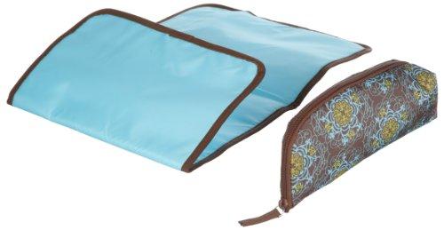 Okiedog 60028 Gala Messenger - Bolso bandolera para pañales y cambiador, color marrón y turquesa