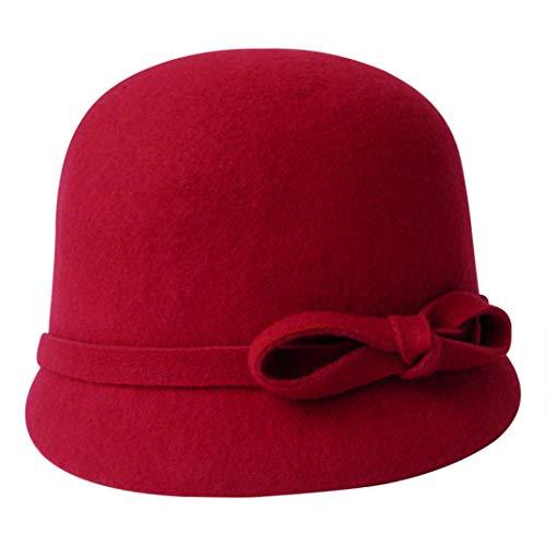Derby Olado Kentucky La Elegante Para Gorras Sinamay Rojo Sombrero De Plana Iglesia Mujeres Lana TTwBfExrq
