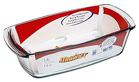 Amazon.com: Marinex plato de vidrio rectangular de molde, 10 ...