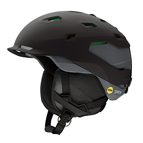 (Smith Optics Quantum Adult MIPS Asian Fit Ski Snowmobile Helmet - Matte Black Charcoal/Large)