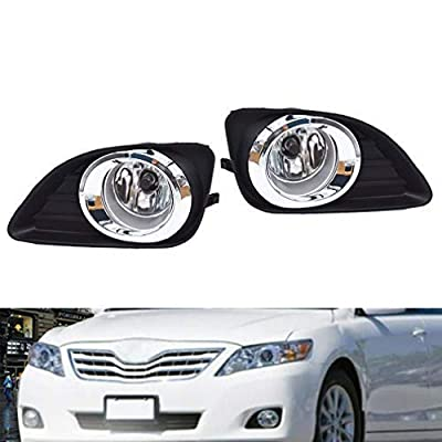 LED Projector Fog Lights Bumper Driving Lamps w/Switch Assembly Driver & Passenger Fit for 2010-2011 Toyota Camry: Automotive
