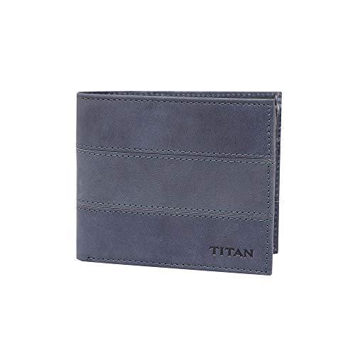 TITAN Blue Leather Men #39;s Wallet  BANQLYN528