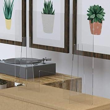 Mampara de protección transparente de mostrador en metacrilato 100x70 cm. Con ventana central de 30x13 cm.: Amazon.es: Bricolaje y herramientas