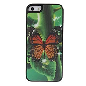 LX 3D Butterfly Pattern Protective Case for iPhone 5? MHC-128264