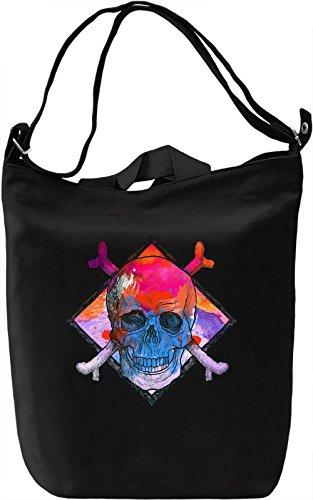 Pink Skull Head Borsa Giornaliera Canvas Canvas Day Bag| 100% Premium Cotton Canvas| DTG Printing|