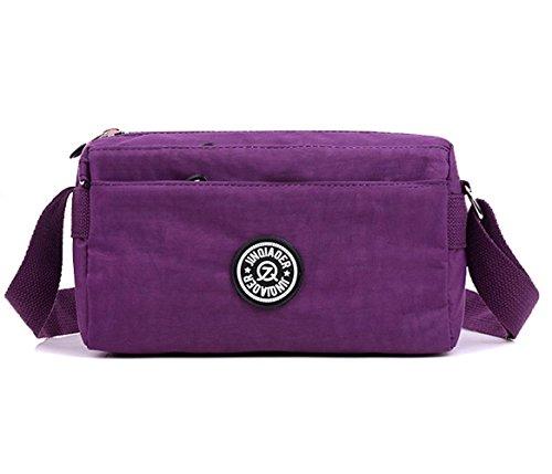 3 purple Bags Anti Water Messenger Shoulder Women Splash Able Crossbody aOzwqPxx8