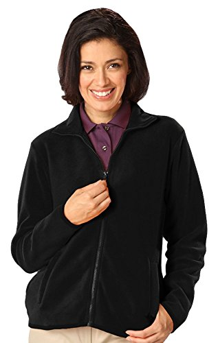 - Blue Generation BG6951 Long Sleeve Ladies' Micro Fleece Full Zip Jacket (M, Polar Black)
