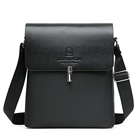Lonson Shoulder Bag Elegant Messenger Bag Weekend Vacation Travel Bag Black