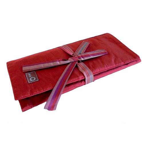 della Q Tri-Fold Knitting Case for Circular Knitting Needles; 004 Red Stripes 1145-1-004 by della Q
