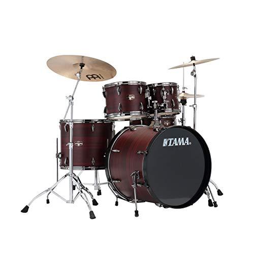 TAMA Imperialstar 5-Piece Complete Kit with Meinl HCS cymbals Burgundy Walnut Wrap w/Black Nickel shell Hardware