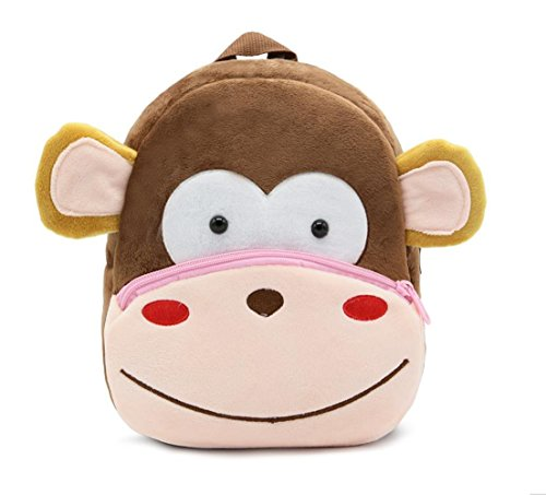 (Cute Toddler Backpack Toddler Bag Plush Animal Cartoon Mini Travel Bag for Baby Girl Boy 1-6 Years (Monkey))