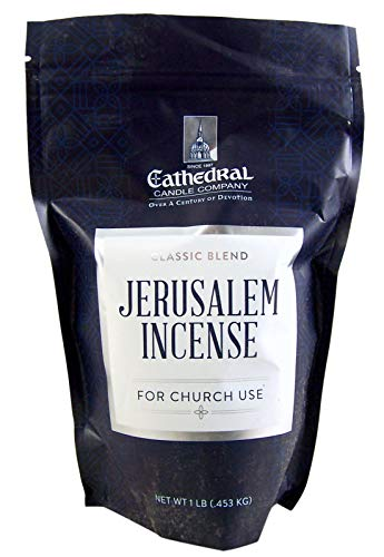 Cathedral Candle Company High Grade Jerusalem Incense for Church Use, 1 LB Box